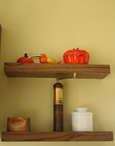 Shelves next to the stove