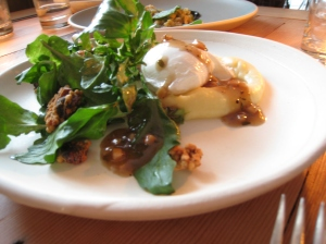 Urban Digs Egg, wild cress, hazelnut & blue cheese granola, brown butter & potato vinaigrette