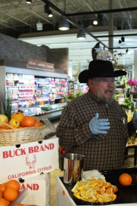 Lisle Babcock of Buck Brand Citrus at Thrifty Foods